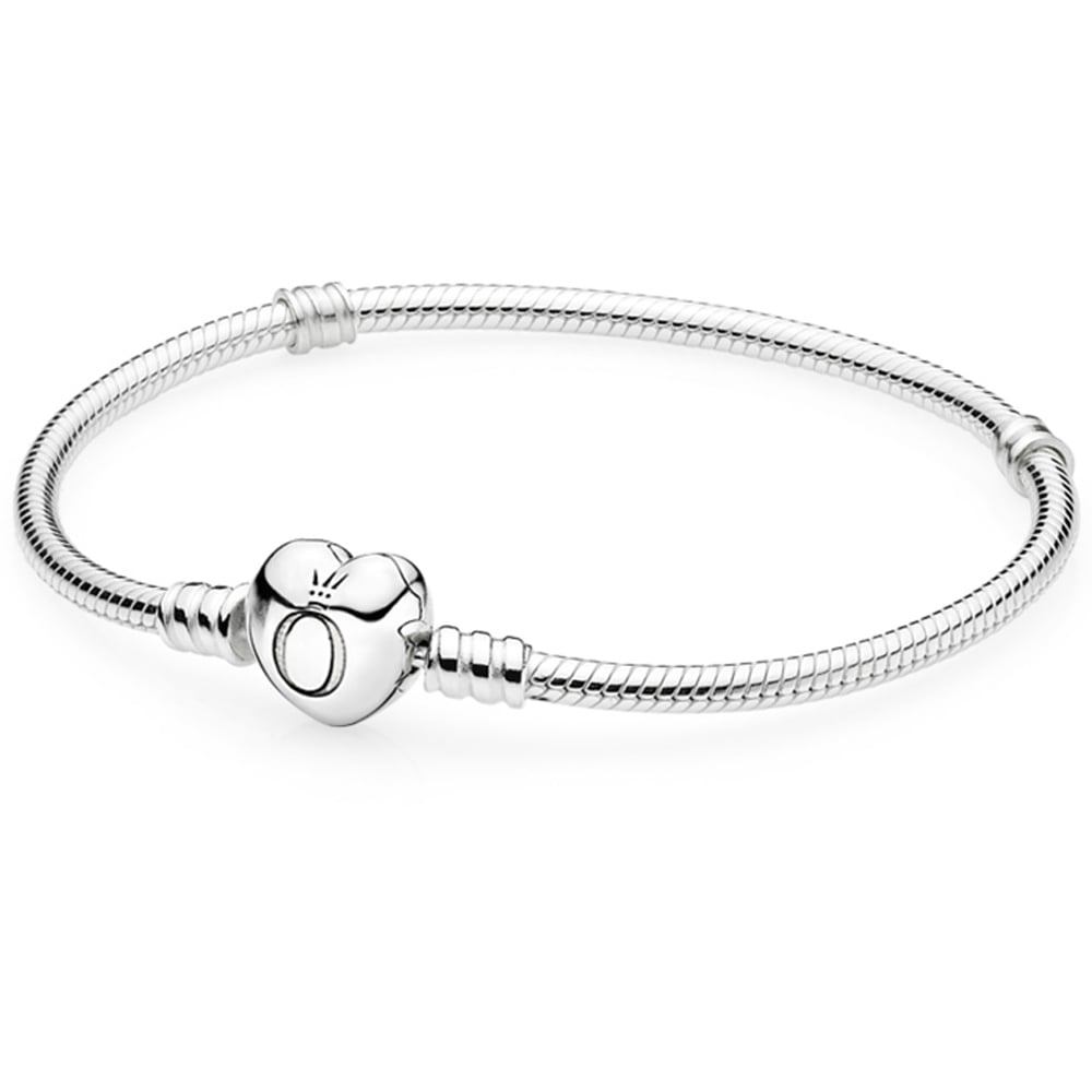 6ae128e3a Pandora Silver Bracelet with Heart Clasp - Jewellery from Francis ...
