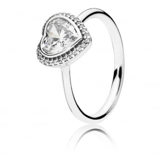 Sparkling CZ Heart Ring