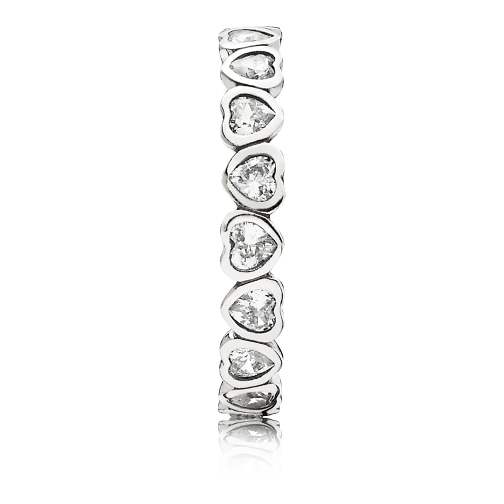 88464679dbfed Pandora Sparkling Heart Stacking Ring