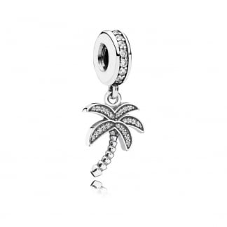 Sparkling Palm Tree Dangly Charm