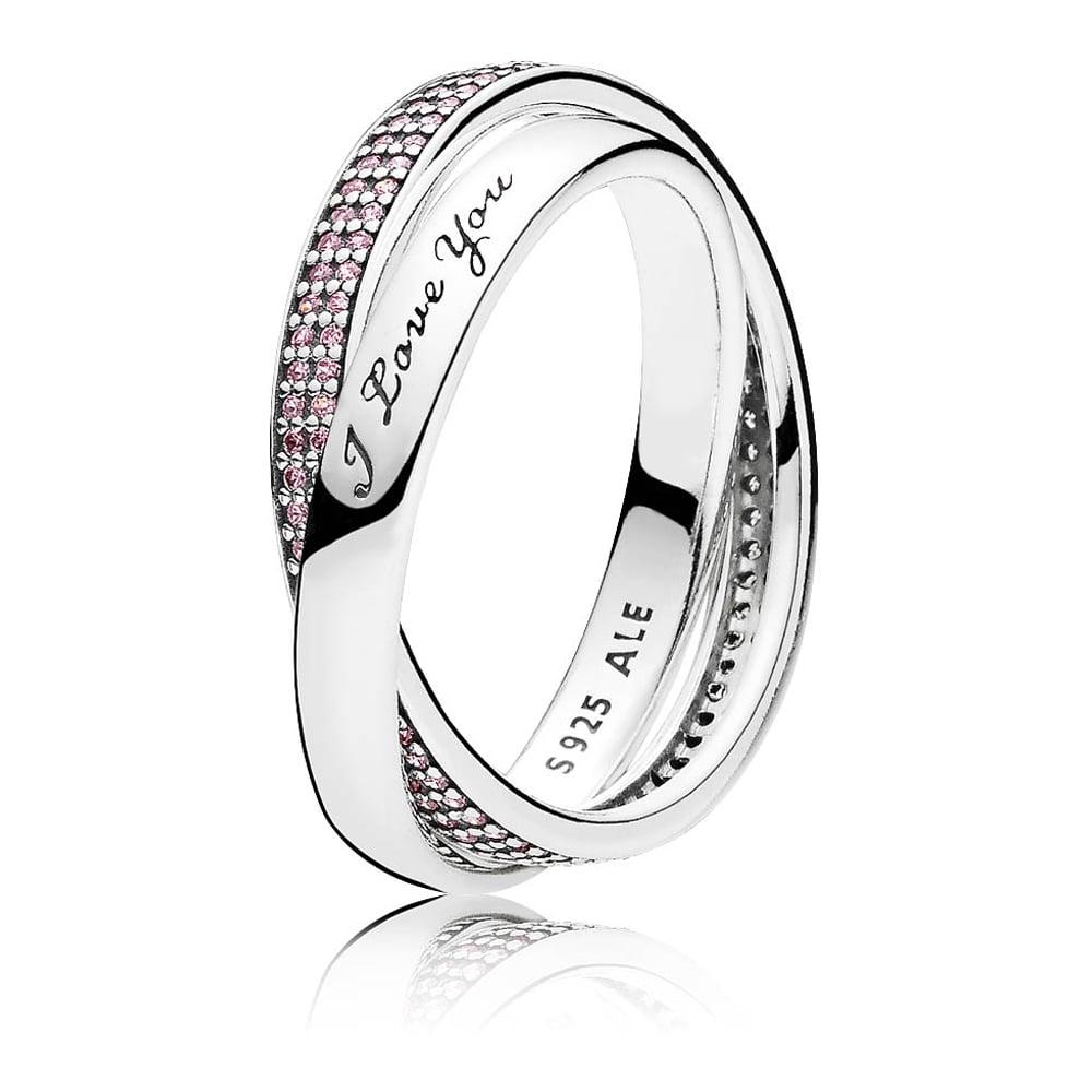 Pandora Sweet Promise Pink Cz Ring