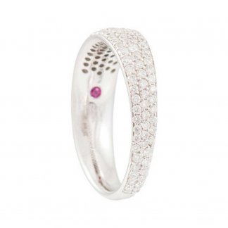 Pave Set Diamond Half Eternity Ring