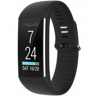 Black A360 Fitness Tracker (Wrist-Based Heart Rate)