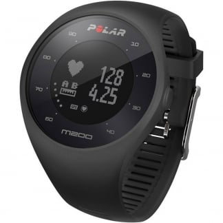 Black M200 Integrated GPS Running Watch