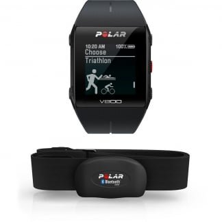 Black V800 GPS Sports Watch With Heart Rate Sensor