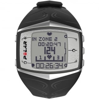 Ladies FT60F Black Heart Rate Monitor Watch