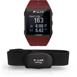 Red V800 GPS Sports Watch With Heart Rate Sensor 90060774