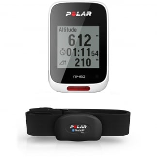 White M450 GPS Bike Computer With Heart Rate Monitor 90055540