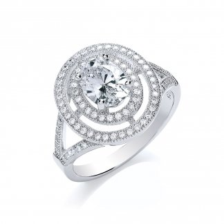 Pretty Oval Surround Ring BR005