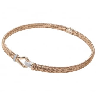 Primavera Rose Gold Diamond Clasp Collar