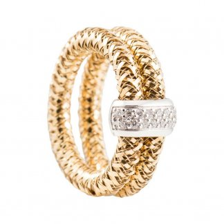 Primavera Yellow Gold Double Stretch Ring