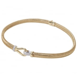 Primavera Yellow Gold Oval Spring Collar