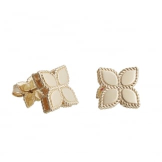 Princess Flower Yellow Gold Large Flower Studs