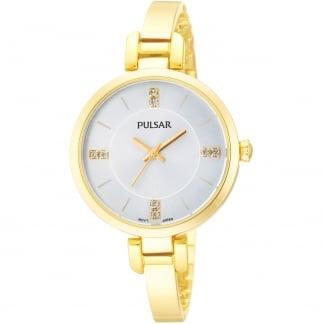 Ladies Gold PVD Half Bangle Dress Watch PH8034X1