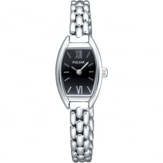 Ladies Silver Oval Watch