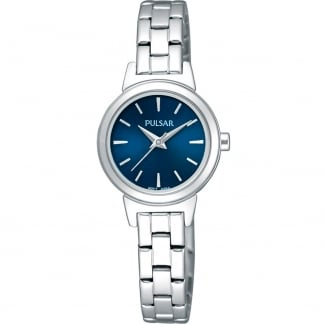 Ladies Steel Watch with Blue Dial