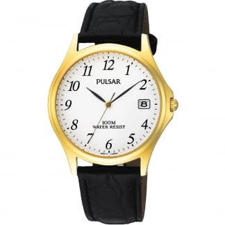 Men's Classic Gold Plated Date Display Watch