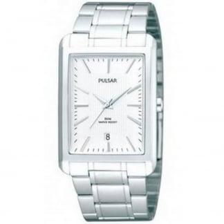 Men's Rectangular Steel Bracelet Watch PG8199X1