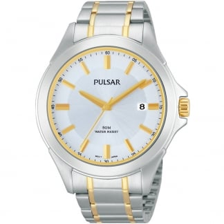 Men's Two Tone Classic Date Display Watch PS9311X1
