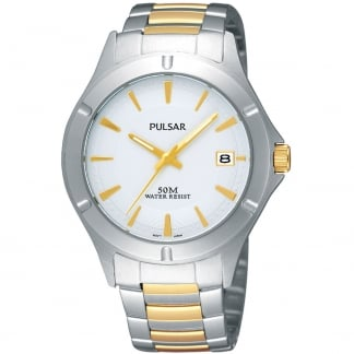 Men's Two Tone Date Display Watch