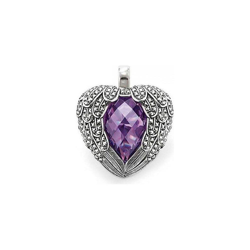Thomas sabo purple feather heart marcasite pendant jewellery from purple feather heart marcasite pendant aloadofball Choice Image
