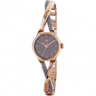Ladies 'Bayer' Two Tone Crossover Bangle Watch RY4234