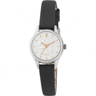 Ladies Black Leather 'On the Run' Watch RY2329