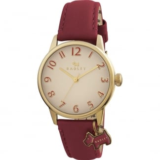 Ladies 'Blair' Red Leather Strap Watch