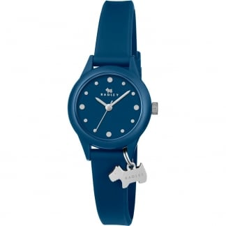 Ladies Blue 'Watch It!' Silicone Strap Watch RY2469