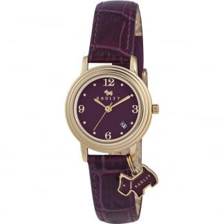 Ladies 'Darlington' Purple Strap Watch With Charm RY2008