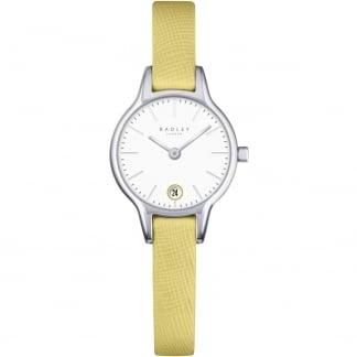 Ladies 'Long Acre' Yellow Leather Quartz Watch RY2381