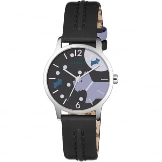 Ladies Over The Moon Black Strap Watch RY2405