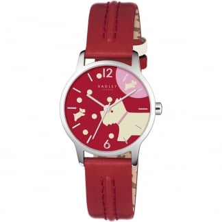 Ladies Over The Moon Blazer Red Strap Watch RY2407