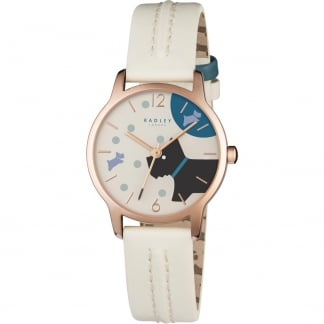 Ladies Over The Moon White Strap Watch RY2404