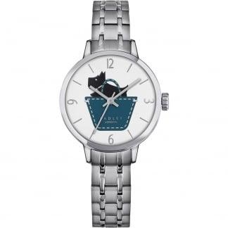Ladies Silver Tone Link Bracelet Watch RY4239