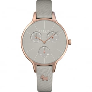 Ladies 'Soho' Green Leather Multifunction Watch RY2390