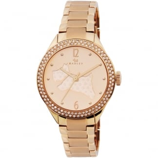 Ladies Stone Set 'Great Outdoors' Rose Gold Bracelet Watch RY4190