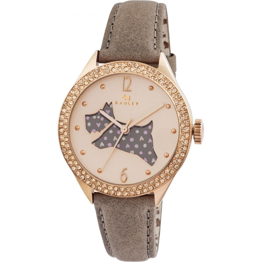 Radley Ladies Stone Set 'Great Outdoors' Leather Strap Watch RY2206