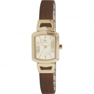 Ladies 'Grosvenor' Brown Leather Strap Watch RY2200