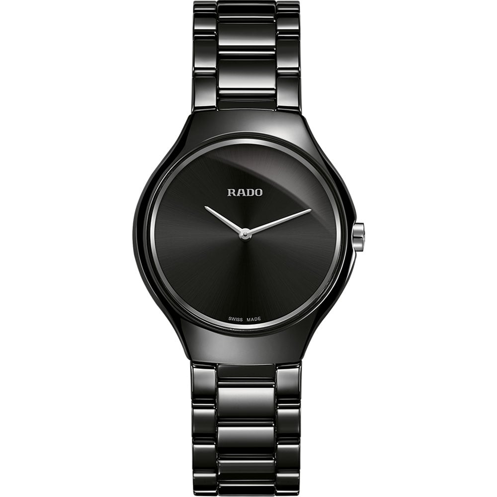 image rado black thinline from true watches ceramic ladies watch