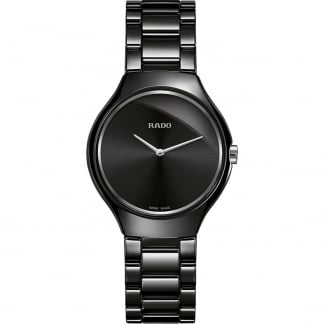 Ladies 30MM Black Ceramic True Thinline Watch R27742192