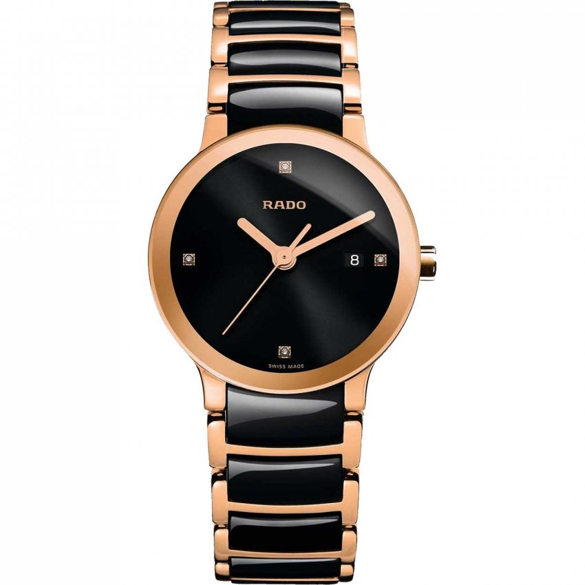 RADO Ladies Centrix Jubile Ceramic & Rose Gold Watch R30555712