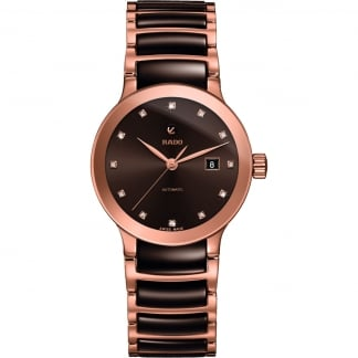 Ladies Centrix Jubilé Chocolate Ceramic Automatic Watch