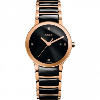 Ladies Centrix Jubile Ceramic & Rose Gold Watch