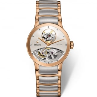 Ladies Centrix Open Heart Two Tone Automatic Watch