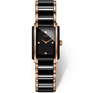Ladies Integral Quartz Jubile Watch in Rose Gold & Ceramic