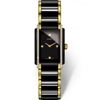 Ladies Integral Quartz Jubile Watch in Gold & Ceramic