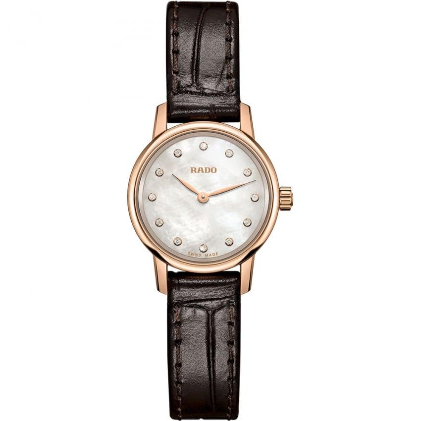 RADO Ladies Rose PVD Coupole Classic XS Strap Watch R22891915