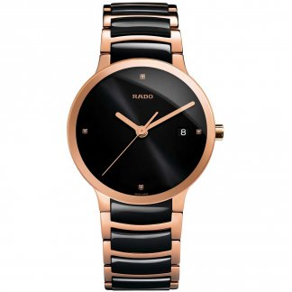 Men's Centrix Jubile Rose Gold & Ceramic Watch