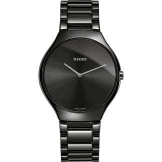Men's True Thinline Quartz Black High-Tech Ceramic Watch